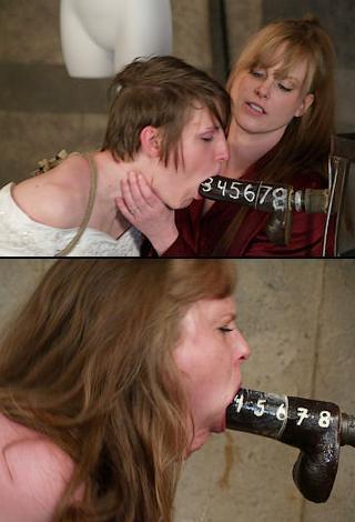 Open Mouth Gag Bondage Blowjob