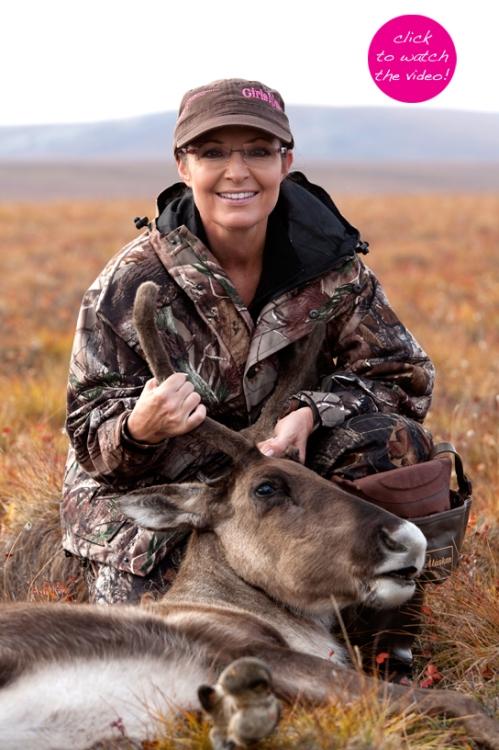 """""""sarah palin deer"""", """"sarah palin hunting"""""""